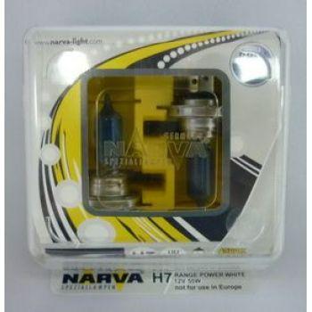 Лампа NARVA H7-12-55 RANGE POWER WHITE 4500K набор 2шт
