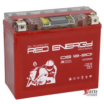 Red Energy (RE) DS 12-201 GEL, стартерный аккумулятор для мототехники и скутеров.