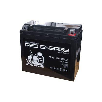 Red Energy (RE) RS 12-201 GEL, стартерный аккумулятор для мототехники и скутеров.