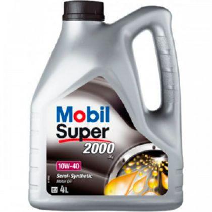 Масло моторное для автомобиля Mobil Super 2000 10W40 4 л в Уфе