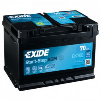 EXIDE Start-Stop AGM 70Ah О.П.