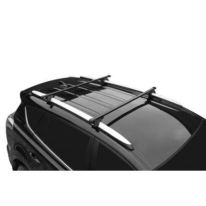 Багажник LUX КЛАССИК с дугами 1,4 прямоугольными в пластике на рейлинги