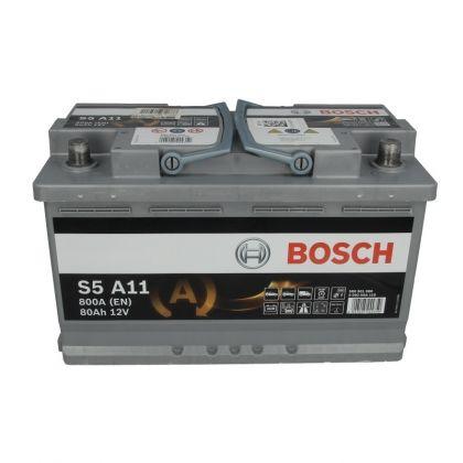 Аккумулятор BOSCH S5 80 Ah AGM О.П. в Уфе