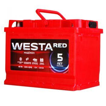 WESTA RED 60Ah низкий О.П.
