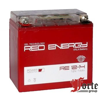 Red Energy (RE) DS 12-14 GEL, стартерный аккумулятор для мототехники и скутеров.