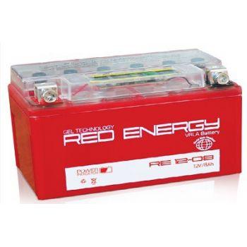 Red Energy (RE) DS 12-08, стартерный аккумулятор для мототехники и скутеров.
