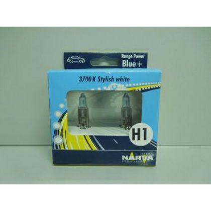 Лампа NARVA H1-12-55 +50% RANGE POWER BLUE + 3700К набор из 2-х шт
