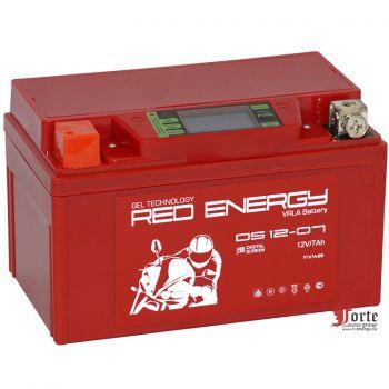 Red Energy (RE) DS 12-07 GEL, стартерный аккумулятор для мототехники и скутеров.