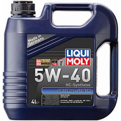 Масло моторное для автомобиля LIQUI MOLY Optimal Synth 5W-40 4 л в Уфе