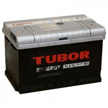 TUBOR Synergy 74 Ah низкий О.П.
